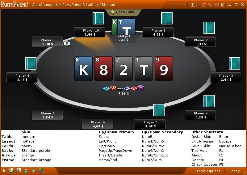 Party poker free download table poker led